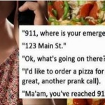 911 pizza call